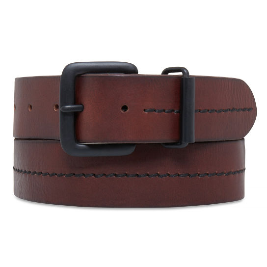 Men's 38mm Leather Belt Brown | Timberland