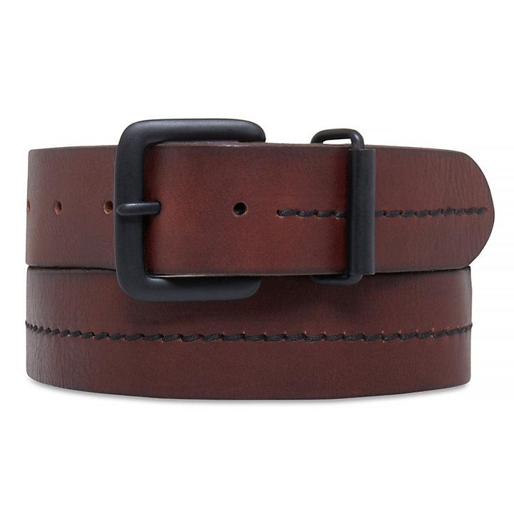 38mm Leather Belt Hombre Marrón-