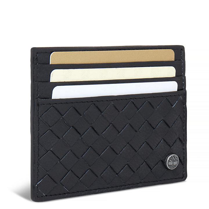 Herren Mousam Textured Card Holder Schwarz-