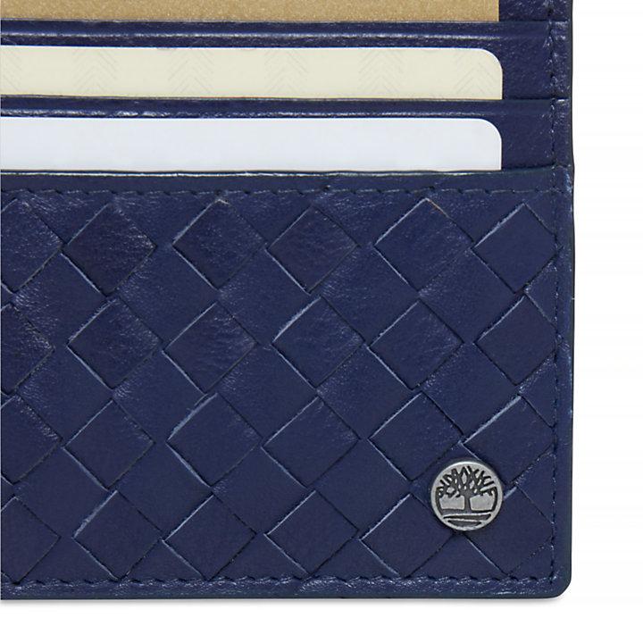 Men's Mousam Textured Card Holder Navy-