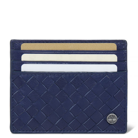 Men's Mousam Textured Card Holder Navy | Timberland