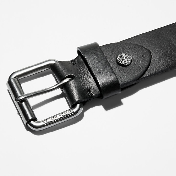 Roller Buckle Belt for Men in Black-