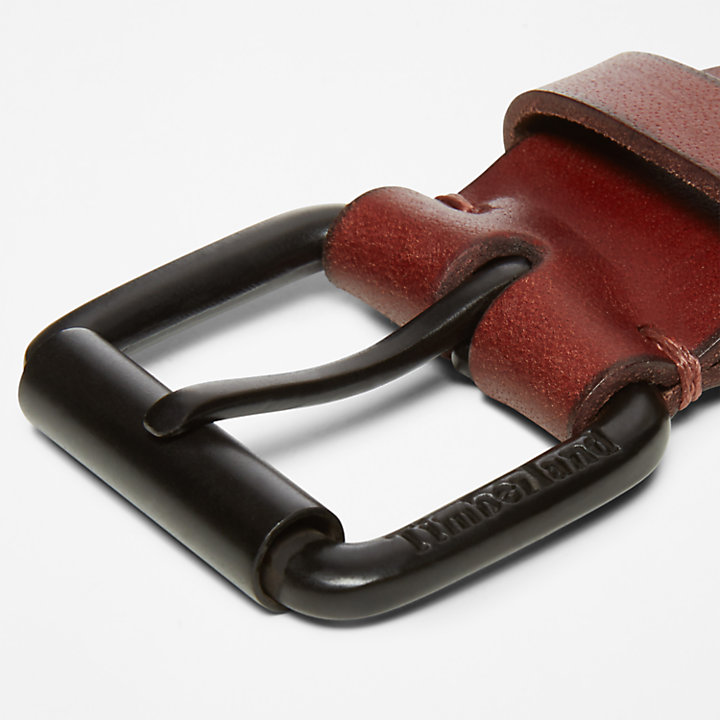Roller Buckle Belt for Men in Brown-