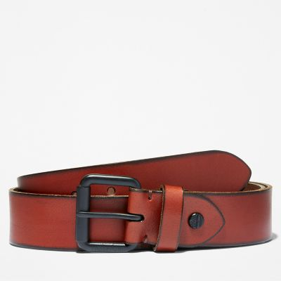 Roller+Buckle+Leather+Belt+for+Men+in+Brown