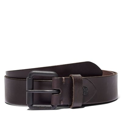 Roller+Buckle+Belt+for+Men+in+Dark+Brown