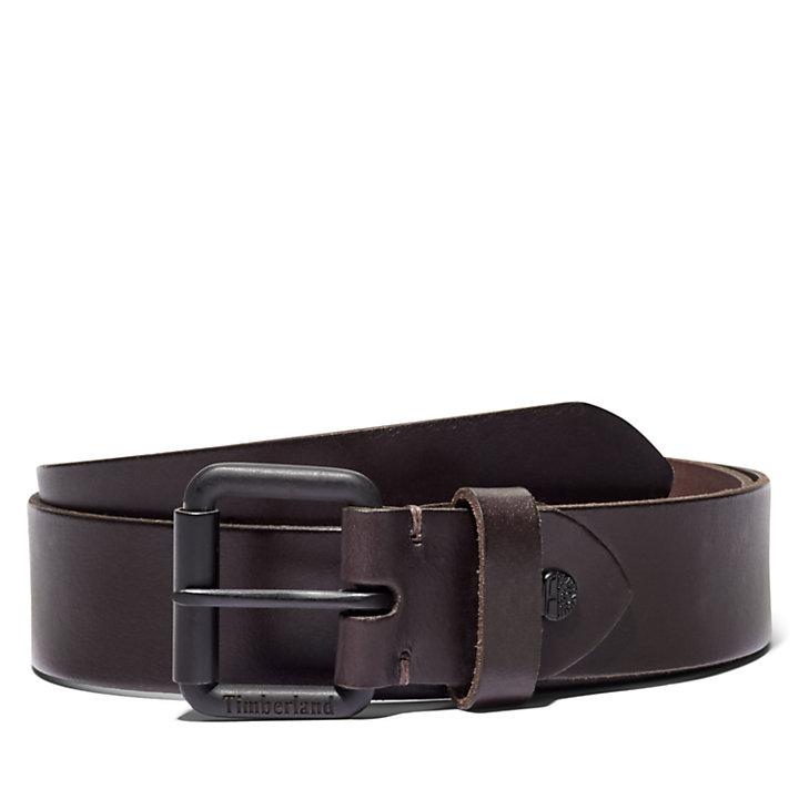 Cintura da Uomo con Fibbia a Rullo in marrone scuro-