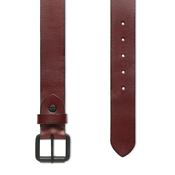 Cinturón con Hebilla de Rodillo para Hombre en Burdeos-
