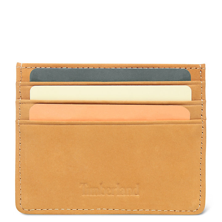Stratham Card Holder for Men in Yellow-