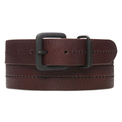 Centre+Stitched+Belt+for+Men+in+Brown