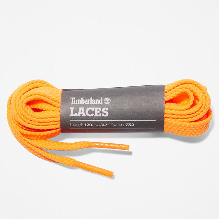 Lacets plats de rechange 119,4cm / 47 pouces en orange-