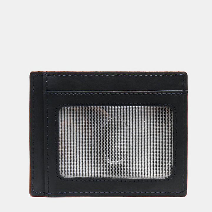 Contrast Edge Card Case for Men in Navy-