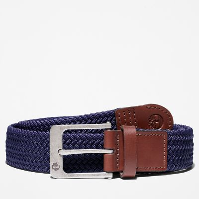 38mm+Stretch+Belt+for+Men+in+Navy