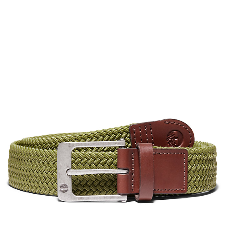 38mm Stretch Belt for Men in Green-