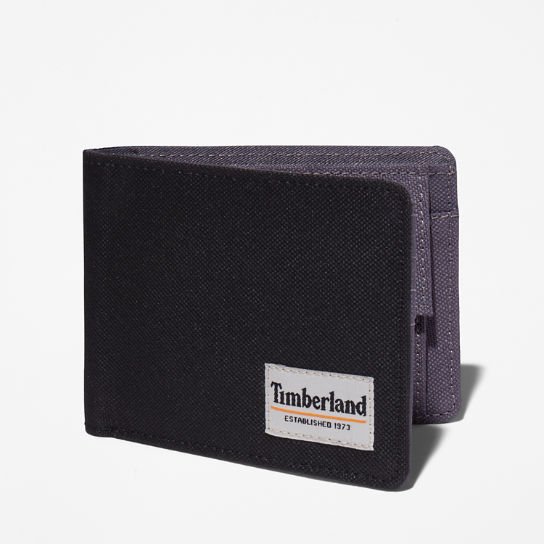 Halyard Patch Wallet with Coin Pocket for Men in Black | Timberland