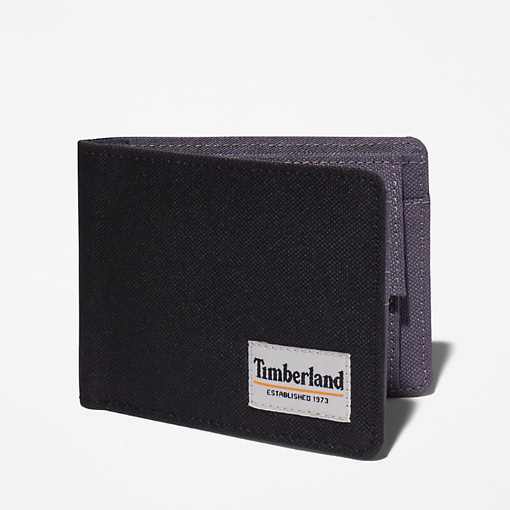 Halyard Patch Wallet with Coin Pocket for Men in Black-