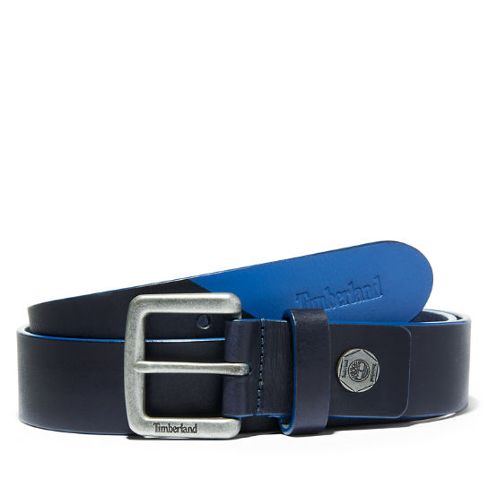 Paint-tip Leather Belt for Men in Blue | Timberland