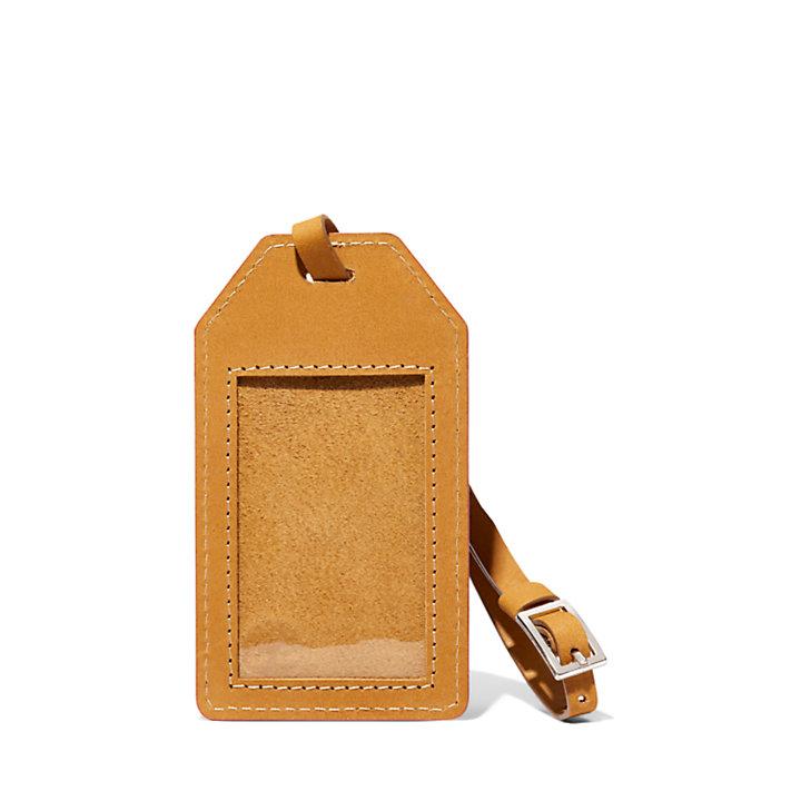 Reisepasshülle & Gepäckanhänger aus Leder in Gelb-