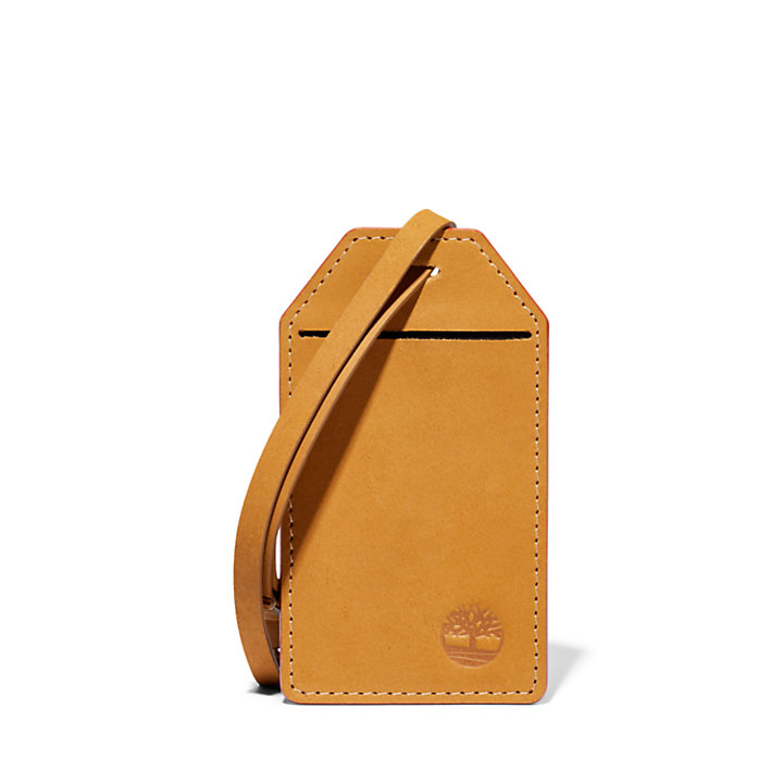 Leather Passport Cover & Travel Tag in Yellow-