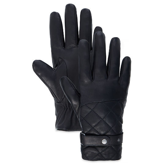 Men's Premium Leather Gloves Black | Timberland