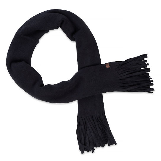 Women's Brushed Scarf with Tassels Black | Timberland