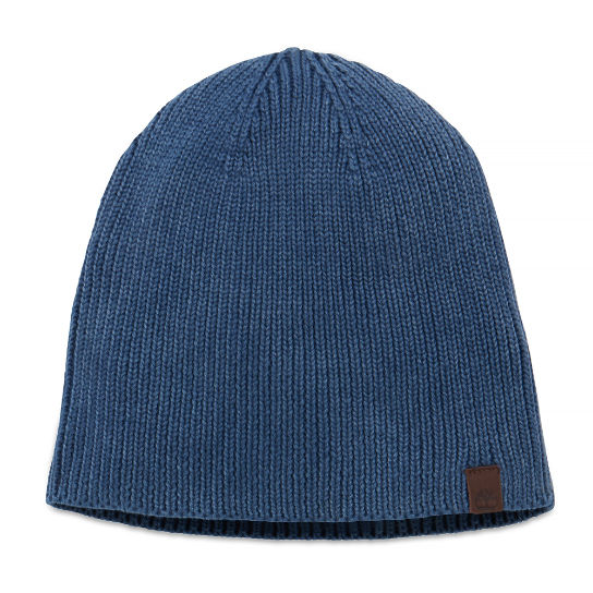 Washed Ribbed Beanie azul medianoche hombre | Timberland