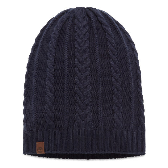 Women's Cable Slouchie Beanie Navy | Timberland