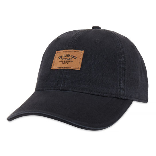 Men's Cotton Canvas Cap Black | Timberland