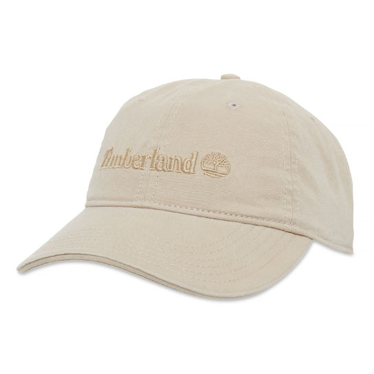 Canvas Baseball Cap Heren Beige | Timberland