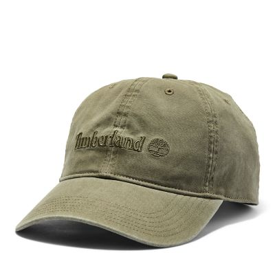 Canvas+Baseball+Cap+for+Men+in+Dark+Green