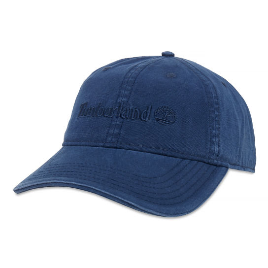 Canvas Baseball Cap Heren Marineblauw | Timberland