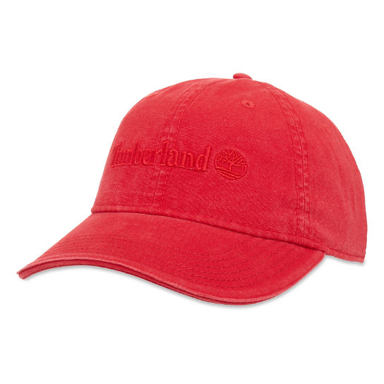 Canvas Baseball Cap for Men in Red | Timberland