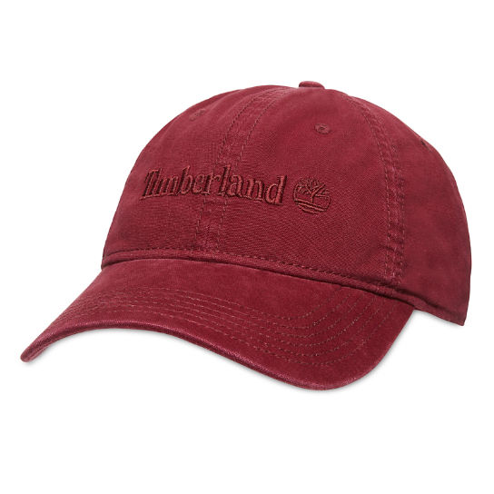 Cotton Baseball Cap for Men in Red | Timberland