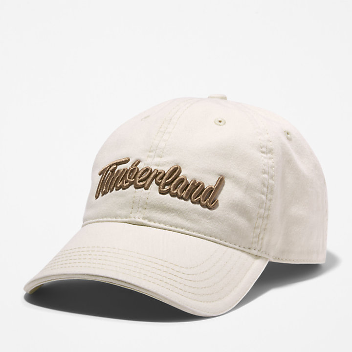 Midland Beach Embroidered Baseball Cap for Men in Beige-