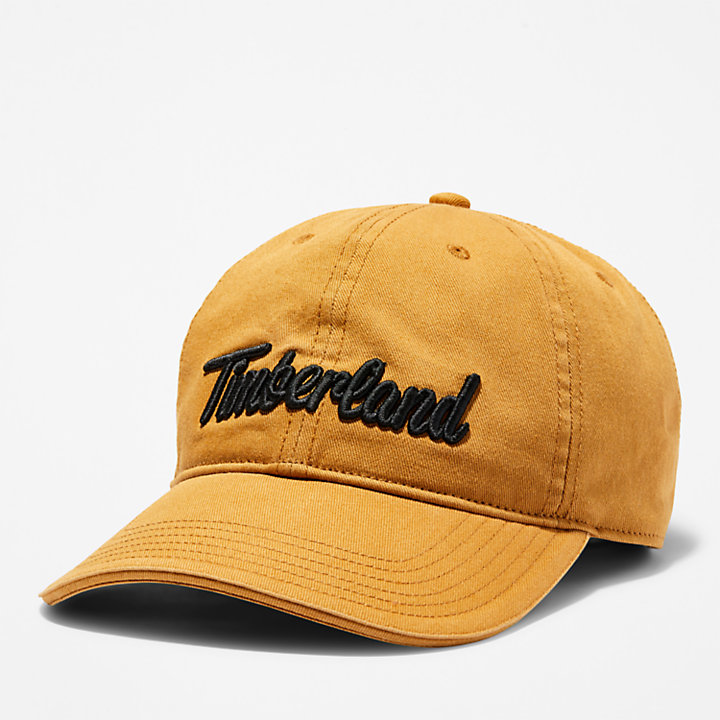 Midland Beach Embroidered Baseball Cap for Men in Yellow-