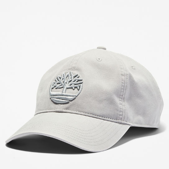 Cotton Canvas Baseball Cap for Men in Pale Grey | Timberland