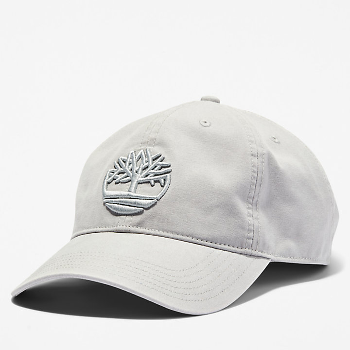 Cotton Canvas Baseball Cap for Men in Pale Grey-