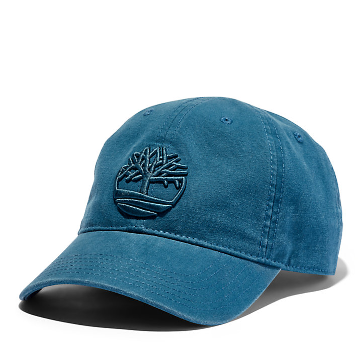 Soundview Cotton Canvas Cap for Men in Teal-