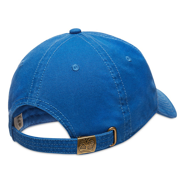 Cotton Canvas Baseball Cap for Men in Blue-