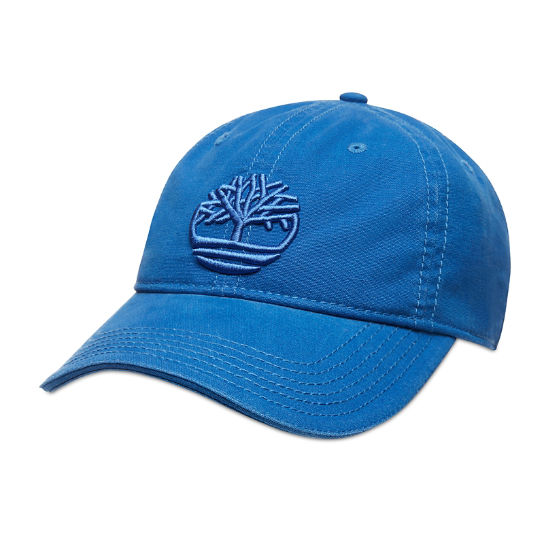 Cotton Canvas Baseball Cap for Men in Blue | Timberland