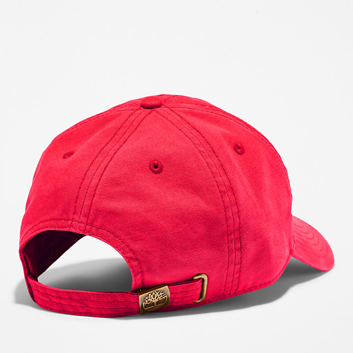 Soundview Cotton Canvas Cap for Men in Red-