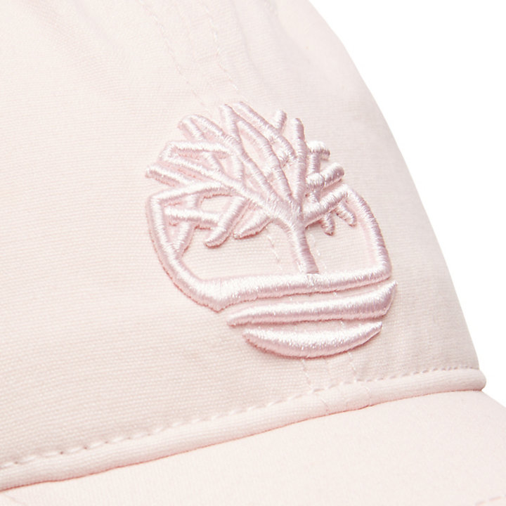 Cotton Canvas Baseball Cap for Men in Light Pink-