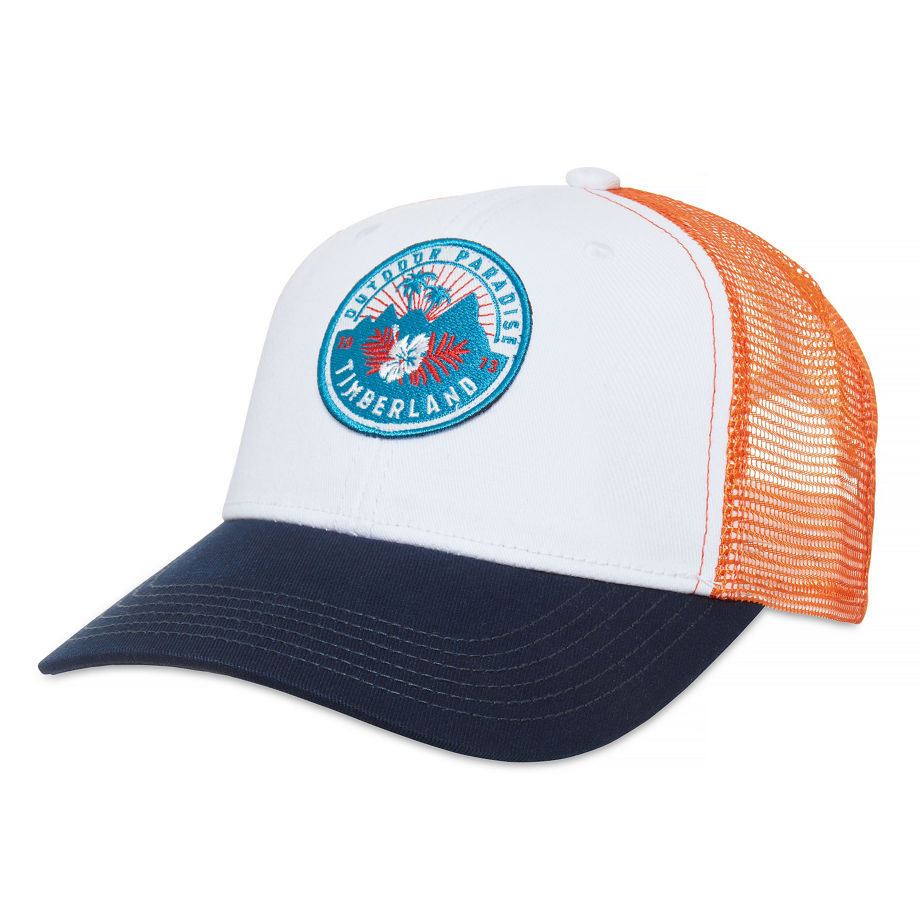 Timberland Men's Trucker Hat White Picket Fence, Size ONE