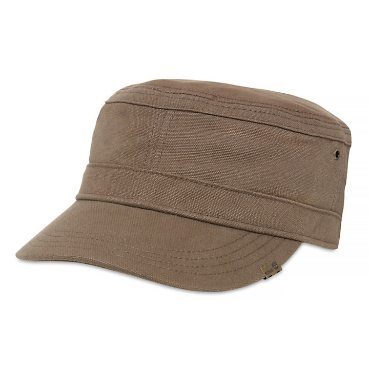 Waxed Canvas Field Cap for Men in Light Brown-