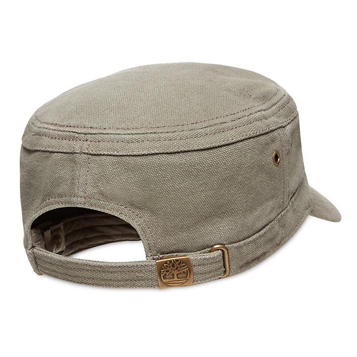 03accf6b094c4 Casquette plate en toile de coton cirée pour homme en gris | Timberland