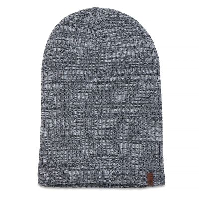 Knitted+Beanie+for+Men+in++Black