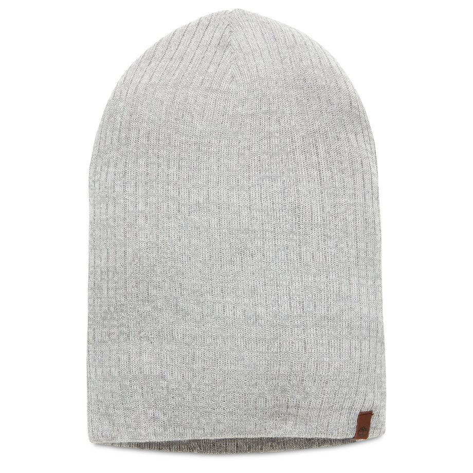 Timberland Men's Knitted Beanie Grey Grey, Size ONE