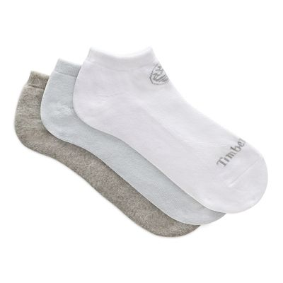 Three+Pair+Low+Socks+for+Women+in+Blue%2FGrey%2FWhite