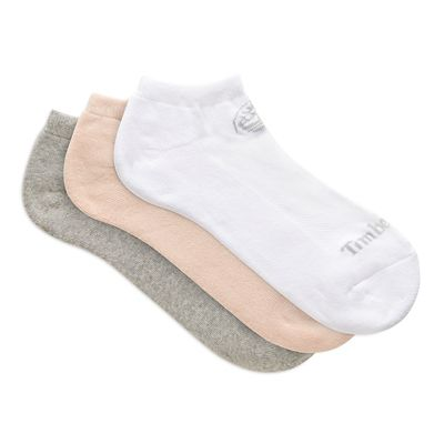 Three+Pair+Low+Socks+for+Women+in+Pink%2FGrey%2FWhite