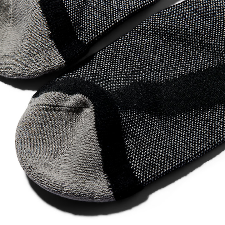 Twee paar Crew Sokken voor Heren in zwart-