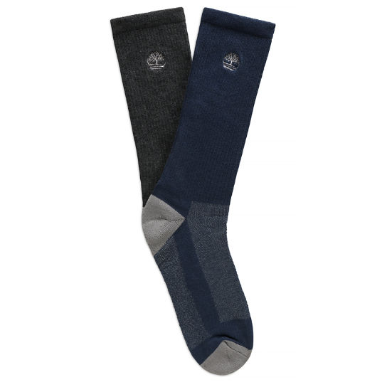 Three Pair Pack Striped Ankle Socks for Men in Grey | Timberland